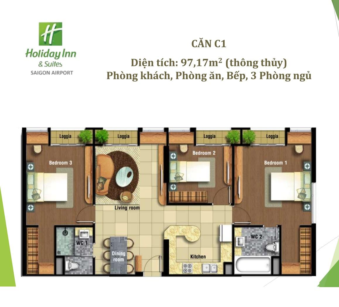 Thiết kế 3 phòng ngủ