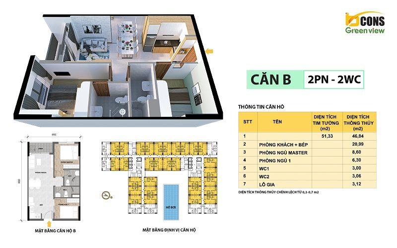 Mặt bằng layout căn hộ