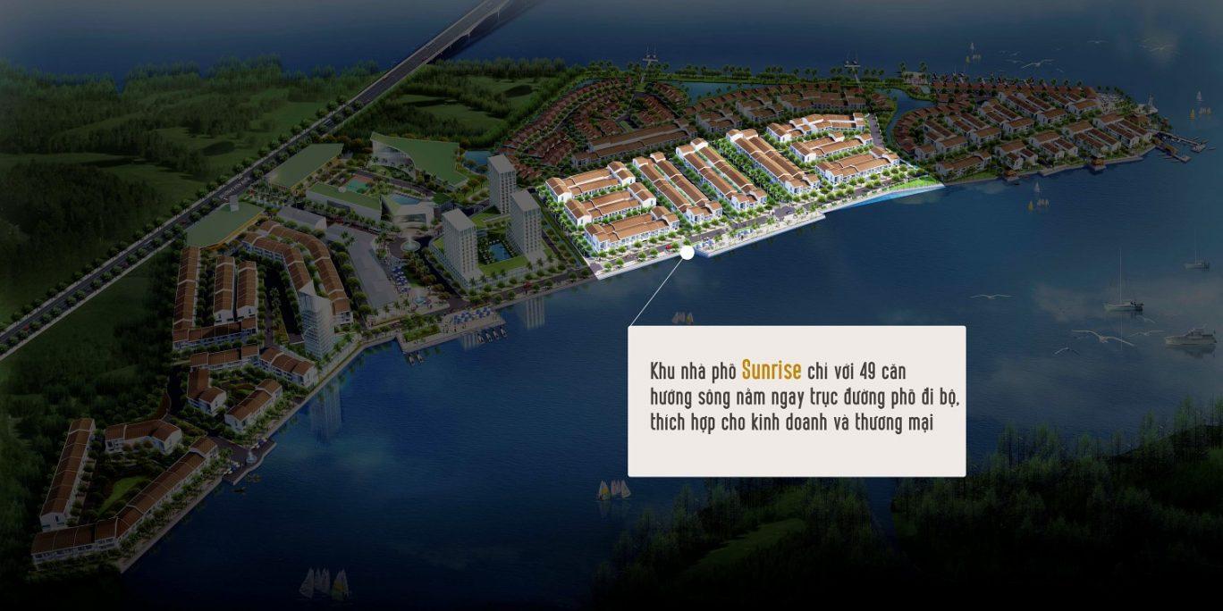 Phân khu nhà phố ven sông Sunrise Marine City