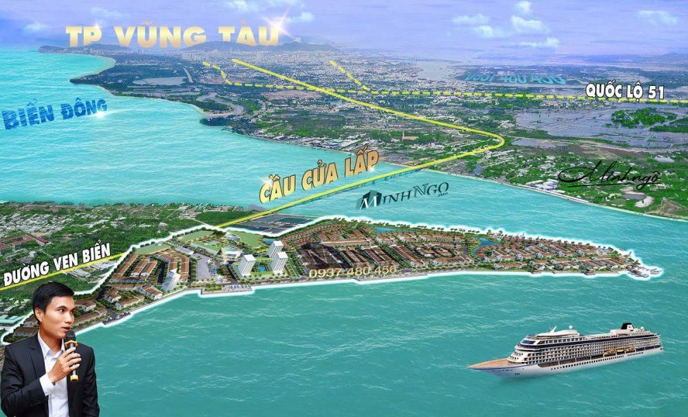 Hình ảnh dự án marine city vũng tàu nhìn từ trên cao